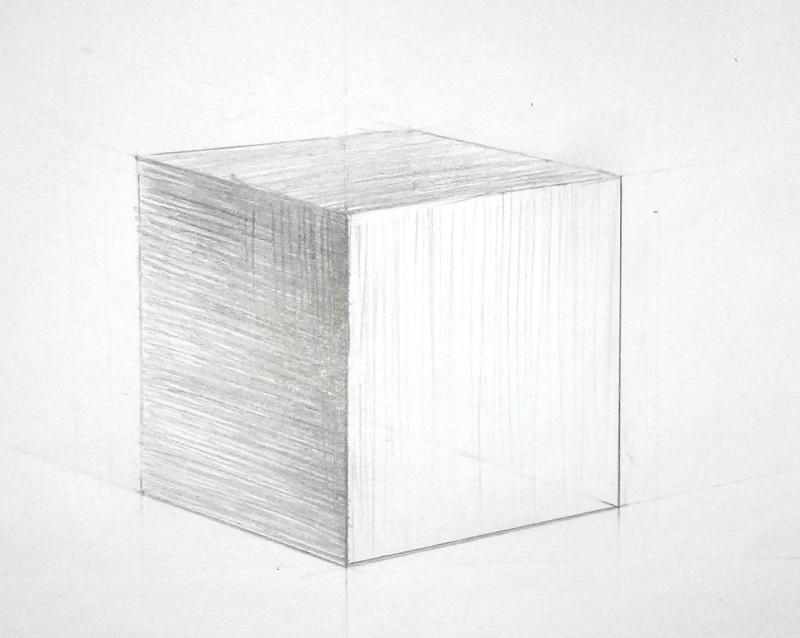 Как построить куб в перспективе: пошаговый метод