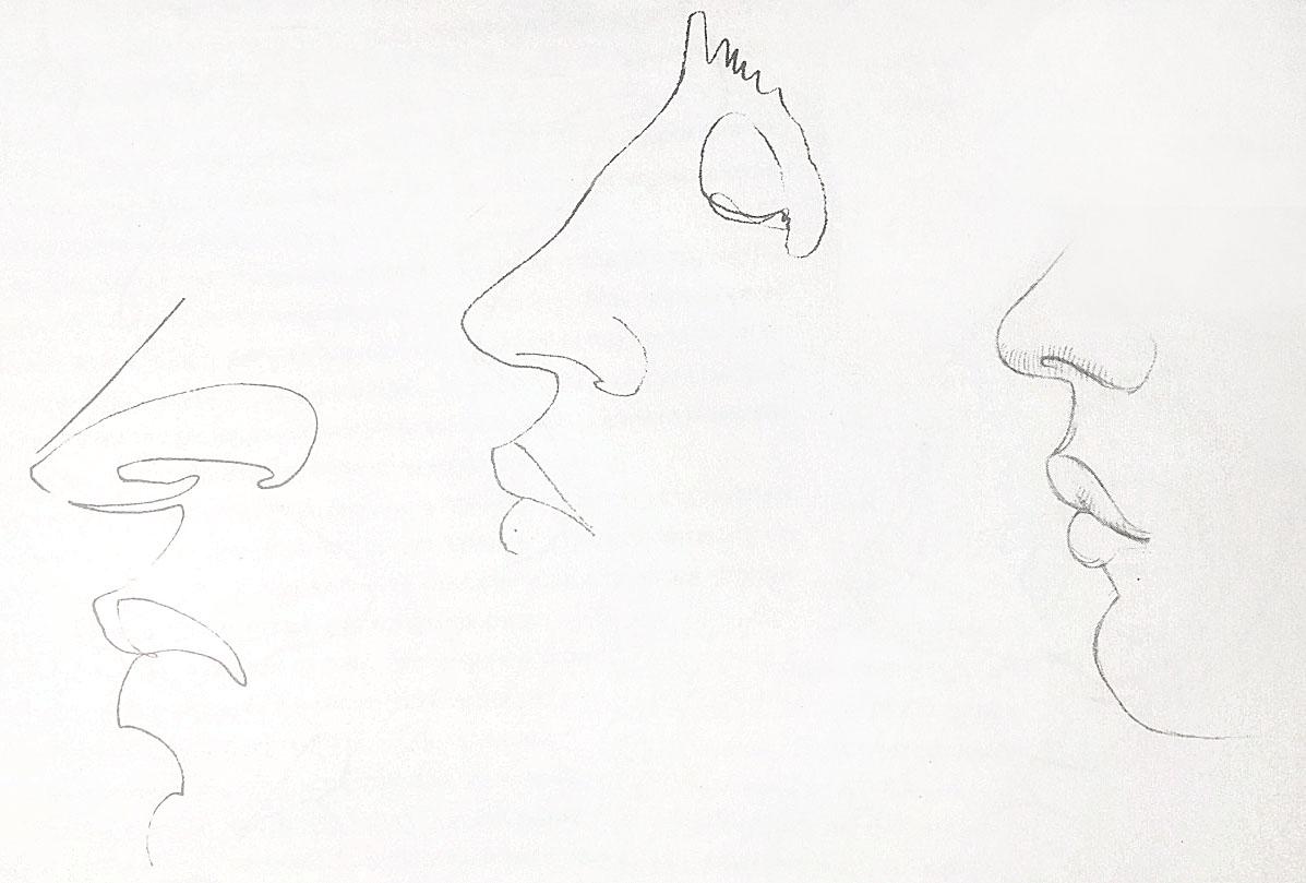 Как нарисовать нос человека в анфас: пошаговый метод