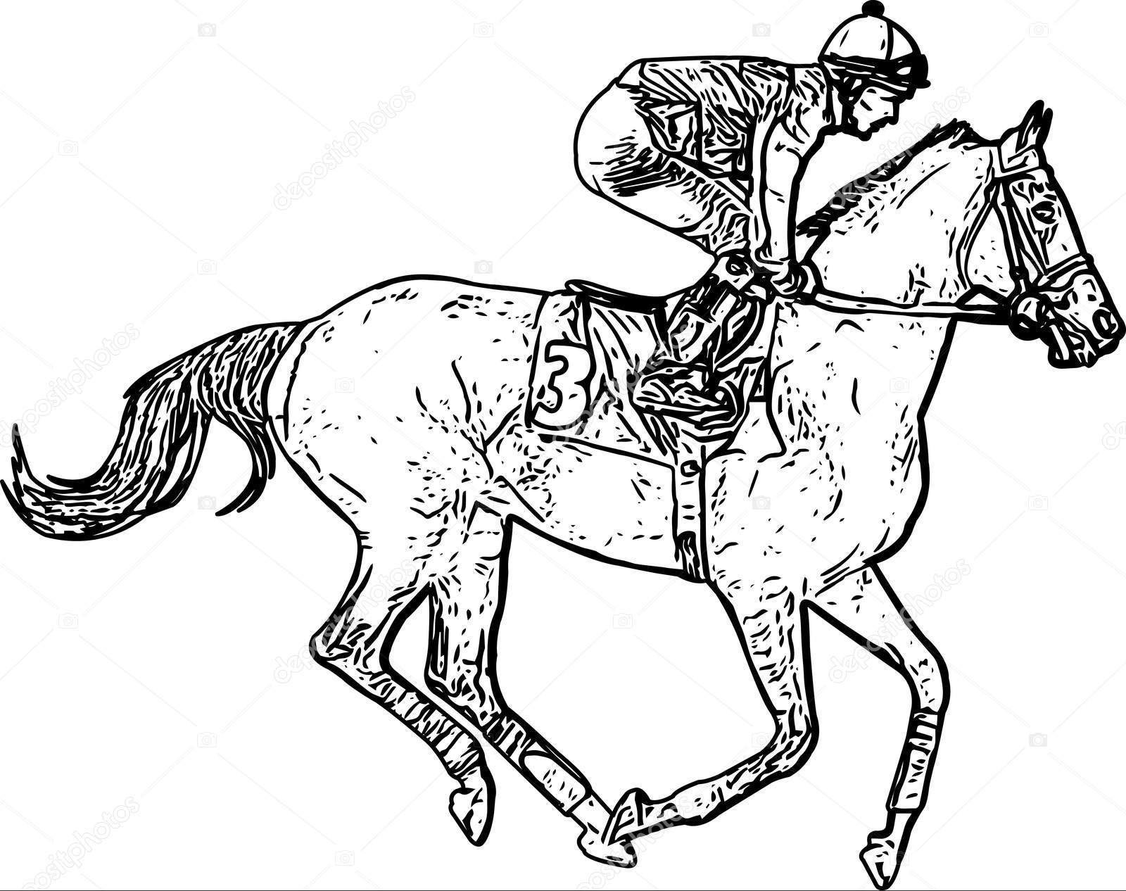 Как нарисовать человека на лошади: красивый и простой рисунок