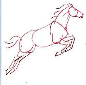 Как нарисовать лошадь: простой способ для начинающих