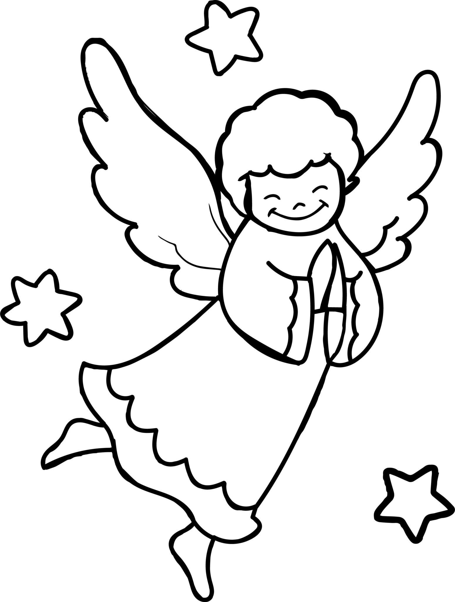 Ангелочки раскраска печатать